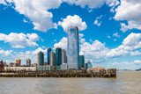 Skyline of Jersey City, New Jersey, USA as seen from the Hudson River - 193011402
