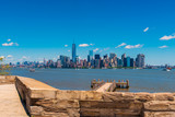 View on Manhattan New York City from Liberty Island  - 193011443