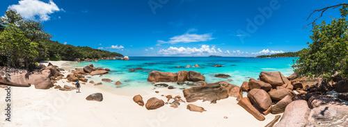 Foto op Canvas Tropical strand Tropical beach Anse Lazio, Praslin island, Seychelles