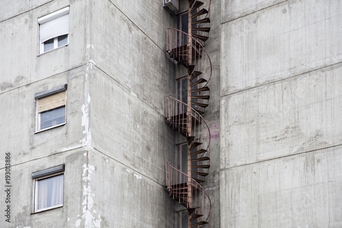 Urban concrete building
