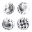 Globe shape with halftone dots. Vector illustration - 193015066