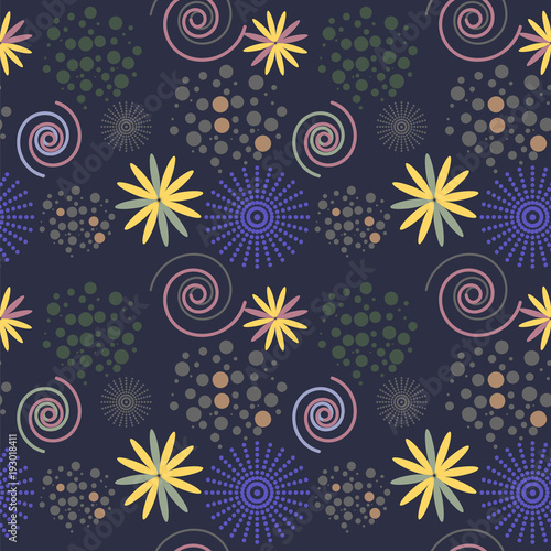 flowery floral pattern2 - 193018411