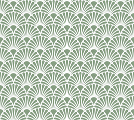 Vector Flower Abstract Seamless Pattern. Art Deco Style Background. Geometric texture.