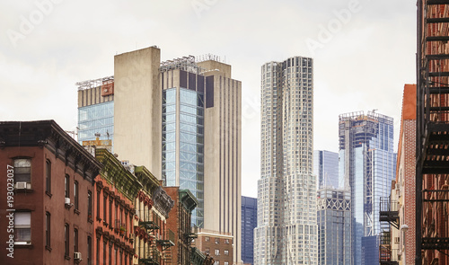 Manhattan old and modern architecture, New York City, USA. - 193023037