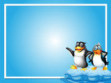 Frame template with two penquins - 193023264