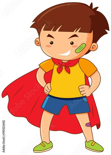 Papiers peints Jeunes enfants Little boy with red cape