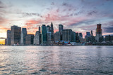Skyline of Manhattan after sunset, View from Brooklyn side, New York, USA - 193024297