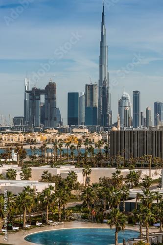 Foto op Canvas Dubai panorama di dubai