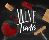 Poster wine time - 193045086