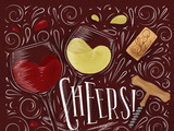 Poster cheers red - 193045227