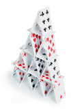 House of cards isolated with clipping path - 193045886