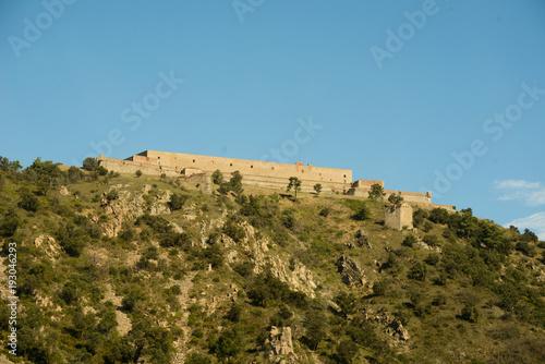 Fotobehang Blauw Pyrenees mountains landscape.