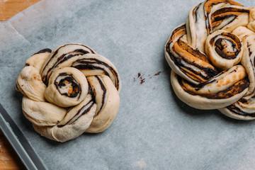 Homemade Chocolate-Cinnamon twist bread
