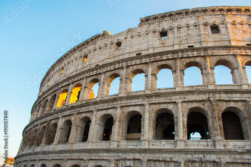 colloseum in rome italy most famous place against sky