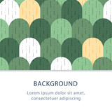 Abstract flat background, rounded tiles pattern, creative backdrop, vector illustration