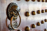 Traditional oriental Chinese door handle and knocker - 193076284