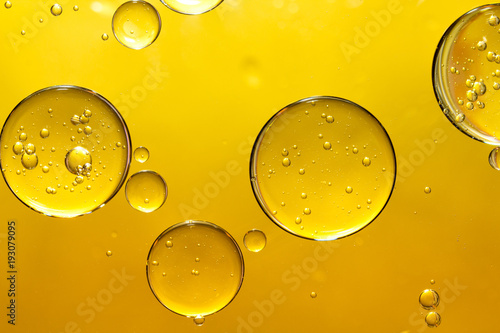 golden yellow bubble oil © Warakorn