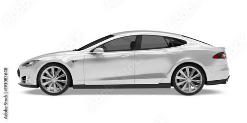 Wall mural Luxury Sedan Car Isolated