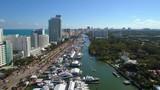 Stock video Miami boat show 4k uhd