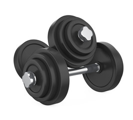 Metal Dumbbells Isolated © nerthuz