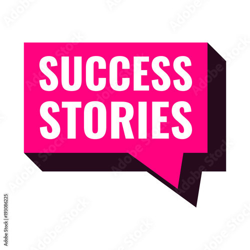 Success stories. Vector illustration on white background.