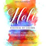 happy holi celebration invitation background design - 193090238
