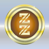 Z Logo Goldplakette - 193091028