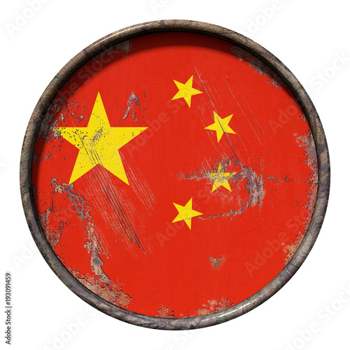 Foto op Canvas Peking Old China flag