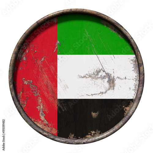 Fotobehang Abu Dhabi Old United Arab Emirates flag