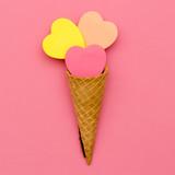Candy Ice Cream. Sweet Fashion art. Flatlay Design