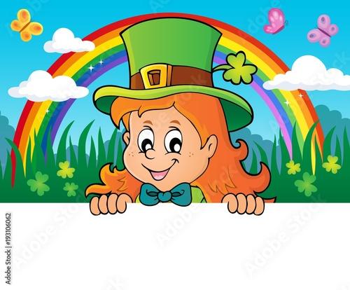 Foto op Canvas Voor kinderen Lurking leprechaun girl theme 2