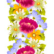 abstract seamless pattern of flowers. for card designs, greeting cards, birthday invitations, Valentine's day, party, holiday. - 193110877