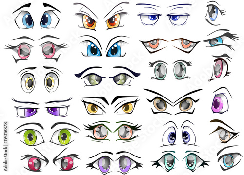 Foto op Aluminium Babykamer The Complete Set of the Drawn Eyes for you Design