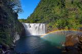 Beautiful Waterfall in Shifen Waterfall,Taiwan,Long Exposure
