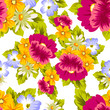 abstract seamless pattern of flowers. for card designs, greeting cards, birthday invitations, Valentine's day, party, holiday. - 193118469