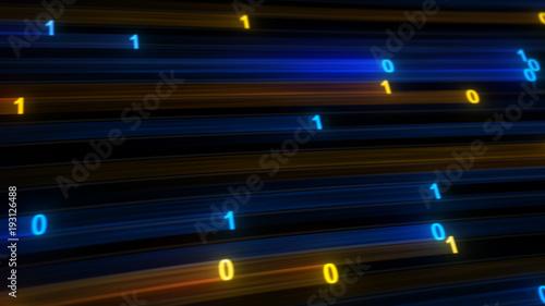 Digital binary data high speed internet concept