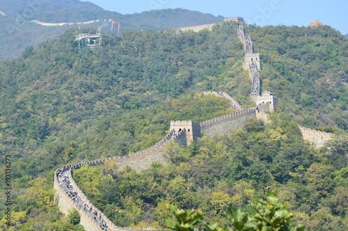 Keuken foto achterwand Olijf Un voyage sur une meiveille du monde, la muraille de Chine