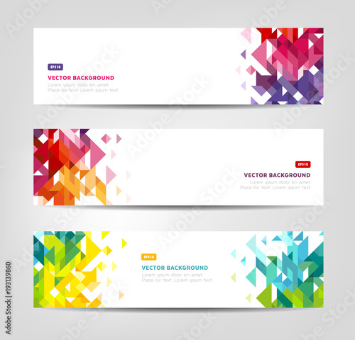 Abstract Banners - Geometric Shapes, Website Headers