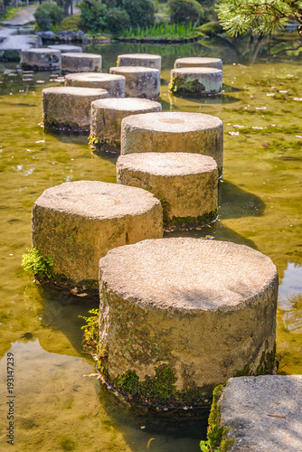 Fotobehang Honing Stepping Stones in Japan