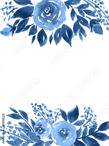 indigo-niebieskie-kwiaty-akwarela-recznie-malowane-kartke-z-zyczeniami-z-roz-i-lisci