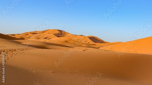 Plexiglas Oranje eclat Erg Chebi dunes - Sahara. Merzouga. Morocco