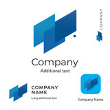 Abstract Technological Logo Design Modern Clean Identity Brand and App Icon Commercial Symbol Concept Set Template - 193150491