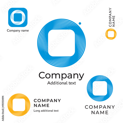 Abstract Technological Logo Design Modern Clean Network Identity Brand and App Icon Commercial IT Symbol Concept Set Template