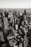 Aerial view of Midtown skyscrapers in Black & White, Cityscape, Manhattan, New York CIty - 193150876