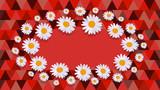 daisy red Celebration card