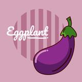 Eggplant vegetable cartoon - 193158629