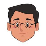 Man smiling face cartoon icon vector illustration graphic design - 193167057