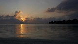 Sunset on Vakarufalhi atoll, Maldives, Asia, Indian Ocean. Holidays in luxury resort. Time lapse with sky, sun, clouds, sea - 193167063