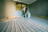 Pipefitter installing system of heating. Repair in the apartment - 193167844