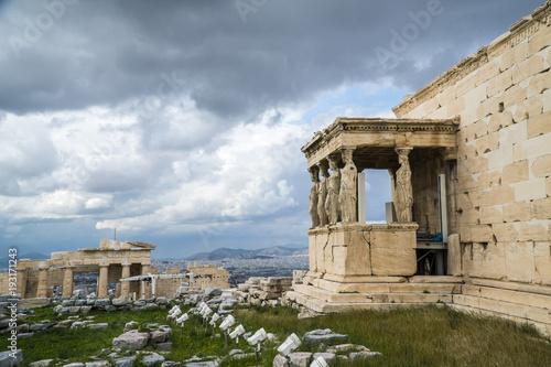 Papiers peints Athenes The Porch of the Caryatids, Erechtheion or Erechtheum, Acropolis of Athens in Greece